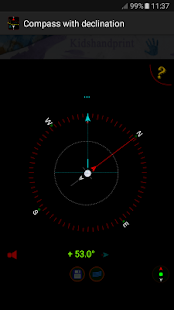 Compass with declination - náhled