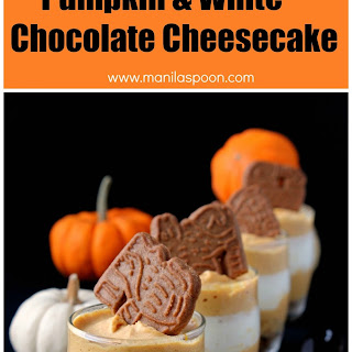 No Bake Individual Pumpkin White Chocolate Cheesecake