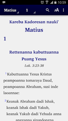 The Bible in Mamasa