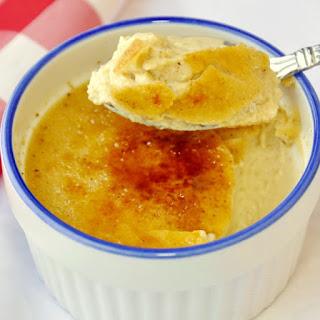 Eggnog Creme Brulée.