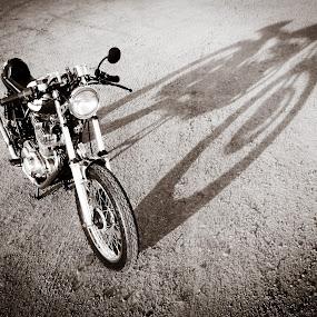 Suzuki GS250 by Brooke Beauregard - Transportation Motorcycles ( gs250, suzuki, vintage, motorcycle, shadows, CARS, TRUCKS, TRANSPORTATION, HOT RODS,  )