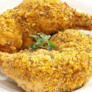 """Baked """"Fried"""" Italian Herb Chicken Legs."""