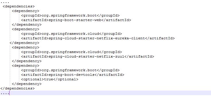 """""""pom.xml"""" file code."""
