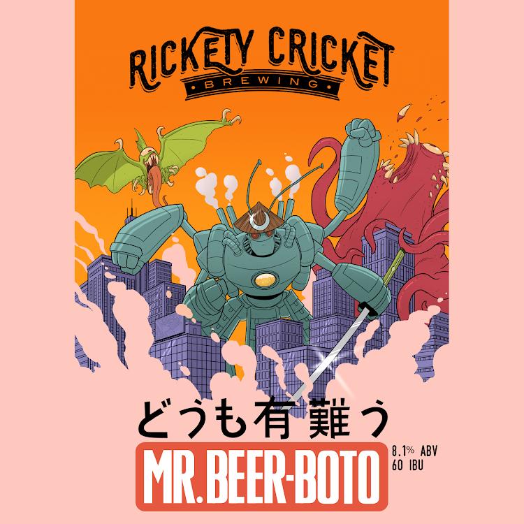 Logo of Rickety Cricket Brewing Mr. Beer-Boto