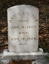 "Photo: Annie ""Amy"" Ellen Cathcart daughter of Mathew Cathcart and Nancy ""Caroline"" Cole / Wife of Isham J Rhoden"
