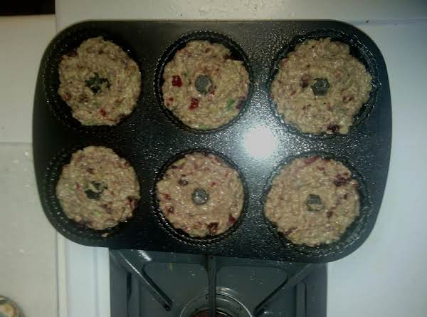 Doing My Spicy Cinnamon Cranberry Bread For Easter...  Made Them Into Muffins Today
