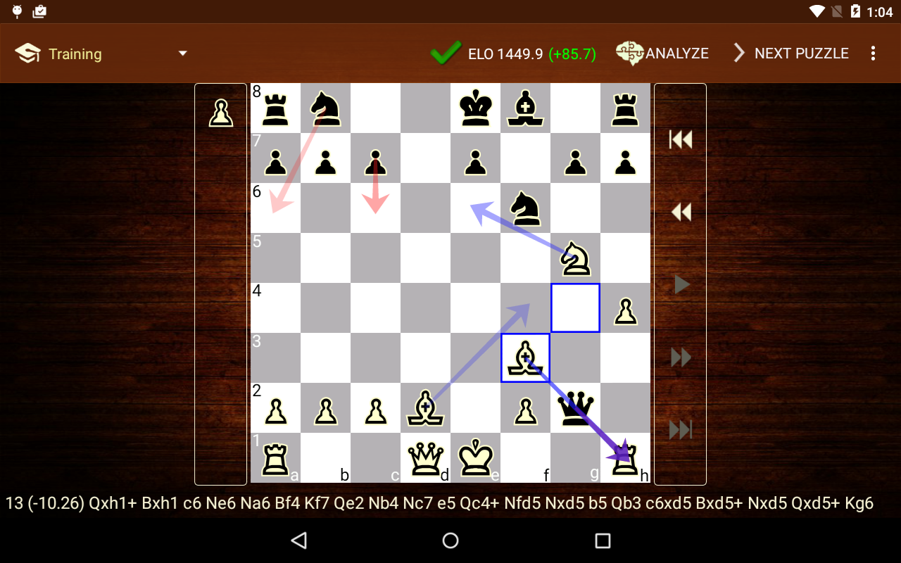tactic trainer chess puzzle android apps on google play