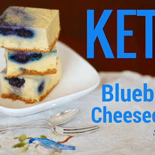 Keto Blueberry Cheesecake Squares.