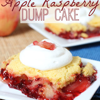 Apple Raspberry Dump Cake.