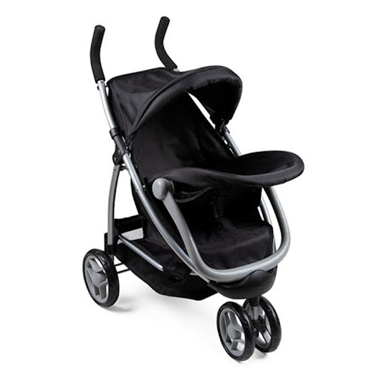 STOY 2-in-1 Doll Stroller and Car Seat Black