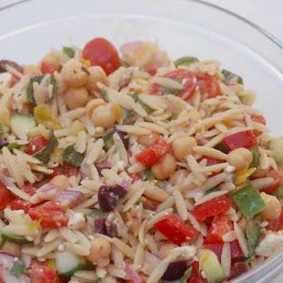 Trisha Yearwood Orzo Salad Made Lighter.