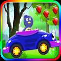 Pinguin Bird Jungle Car Racing icon