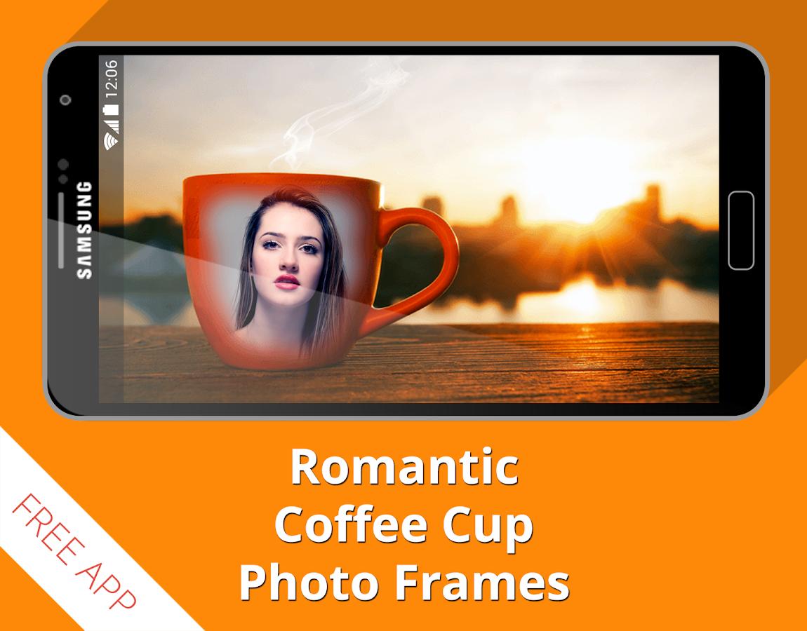 Coffee cup frames - Romantic Coffee Cup Frames Screenshot