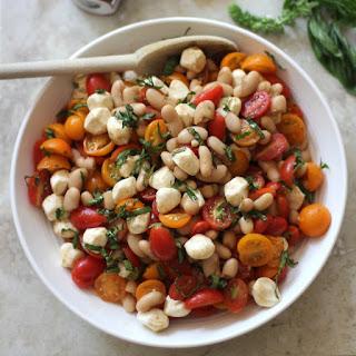 Caprese White Bean Salad.