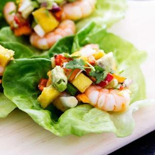 Mango Shrimp Lettuce Wraps