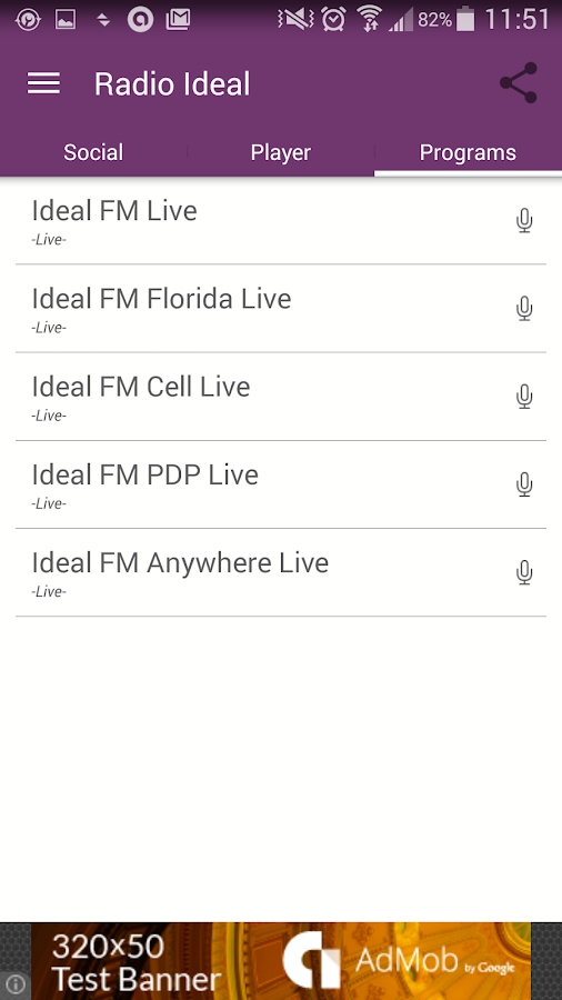 Radio Ideal- screenshot