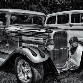 A Classic in Monochrome by David Pilasky - Transportation Automobiles ( monochrome, b&w, classic cars, cars, b & w, old cars )