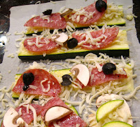 This zucchini plank pizza recipe will help you keep carbs down while still enjoying the same meal as your family. Perfect for eating extra vegetables.