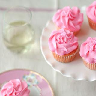 Strawberry Moscato Cupcakes.