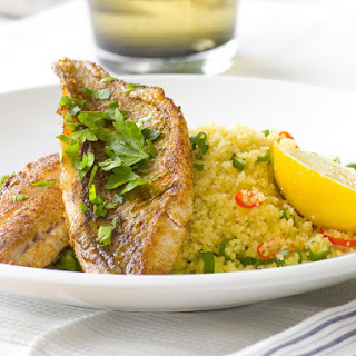 Pan-Seared Sea Bream with Spiced Couscous.