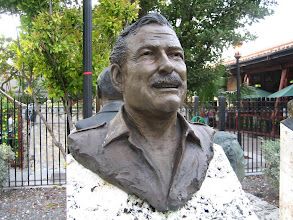Photo: Ernest Hemingway at The Key West sculpture garden at Mallory Square