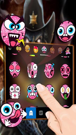 Western Skull Gun Keyboard Theme 1.0 screenshots 4
