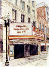 Photo: Tennessee Theater . watercolor . 18 x 24