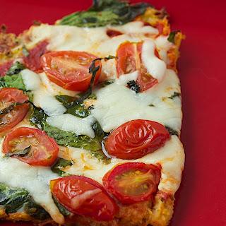 Caprese Pizza with Spaghetti Squash Crust