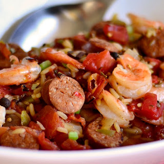 N'awlins-Style Rice with Shrimp and Sausage.