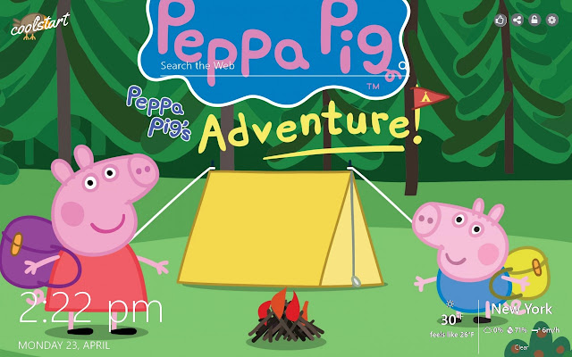 Peppa Pig Hd Wallpaper Cartoon New Tab Theme