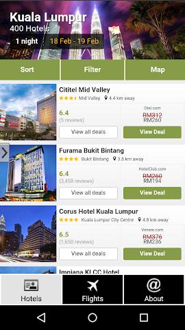 android Kuala Lumpur Hotels and Flight Screenshot 0