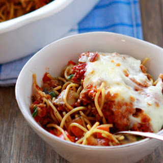 Baked Turkey Sausage and Vegetable Spaghetti
