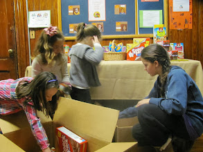 Photo: Packing up the food donation from Priest Street School