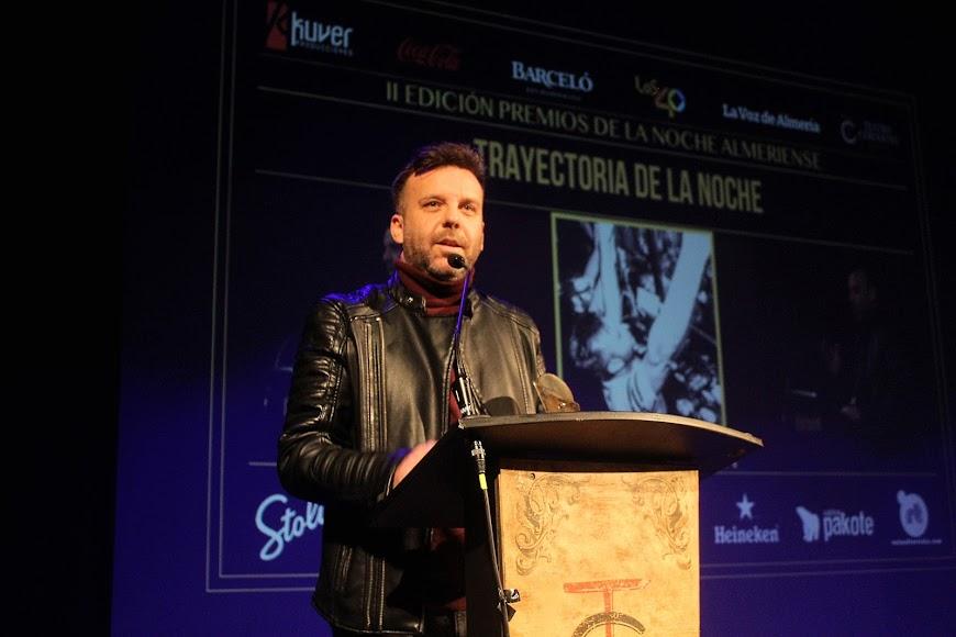 Intervención de Ernesto Zapata tras recibir su galardón a la Mejor Trayectoria.