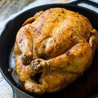 Crispy Skin Cast Iron Roast Chicken