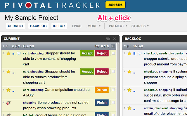 Easy Copy for Pivotal Tracker