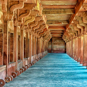 Columns in the afternoon light, Fatehpur Sikri by Savio Joanes - Buildings & Architecture Public & Historical