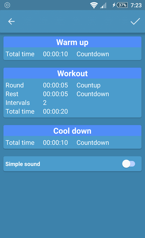 Analog Interval Stopwatch- screenshot