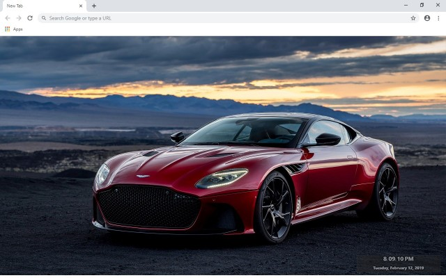 Aston Martin New Tab & Wallpapers Collection