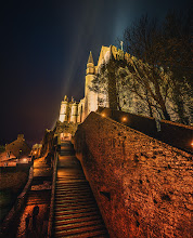 Photo: Stairs to the Monastery  I went up and down those stairs about six times throughout the night to explore this amazing place. The best part was that it was completely bereft of tourists. Whenever you get to walk around a huge medieval walled town like this in the middle of the night with no one around, you really begin to feel like you're not supposed to be there, as if you've broken into some place secret…