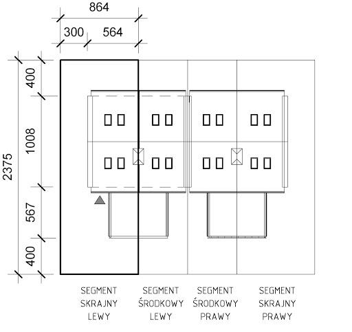 JB55 szeregowy segment skrajny lewy - Sytuacja