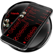 Dialer Circle Black Red Theme