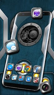 Mechanical Metal Themes HD Wallpapers 3D icons 1.0 Mod APK (Unlock All) 2
