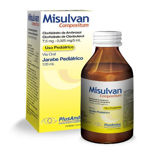 Ambroxol + Clenbuterol Misulvan Jarabe Pediatrico x 120 mL