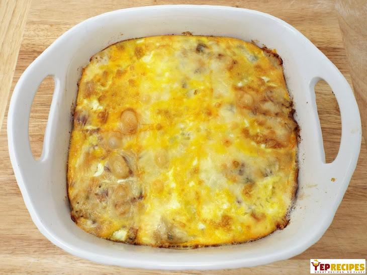 Bacon, Potato, and Muenster Cheese Breakfast Casserole Recipe