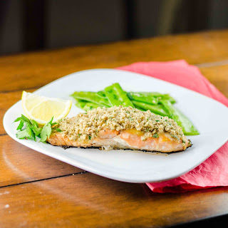 Honey Mustard Pecan Crusted Salmon