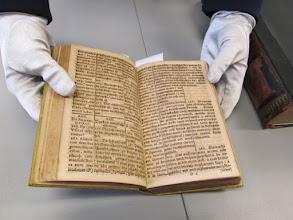 Photo: Jedna z publikací J. A. Komenského, napsaná latinsko-německo-polsky