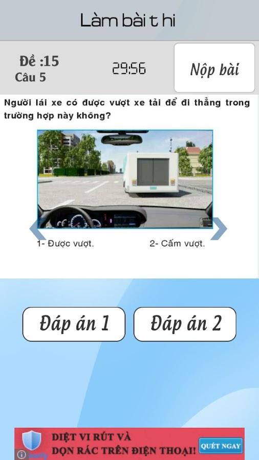 Ôn thi 15 đề thi GPLX ô tô B2- screenshot