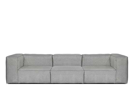 Mags soft 3-sitssoffa, högt armstöd