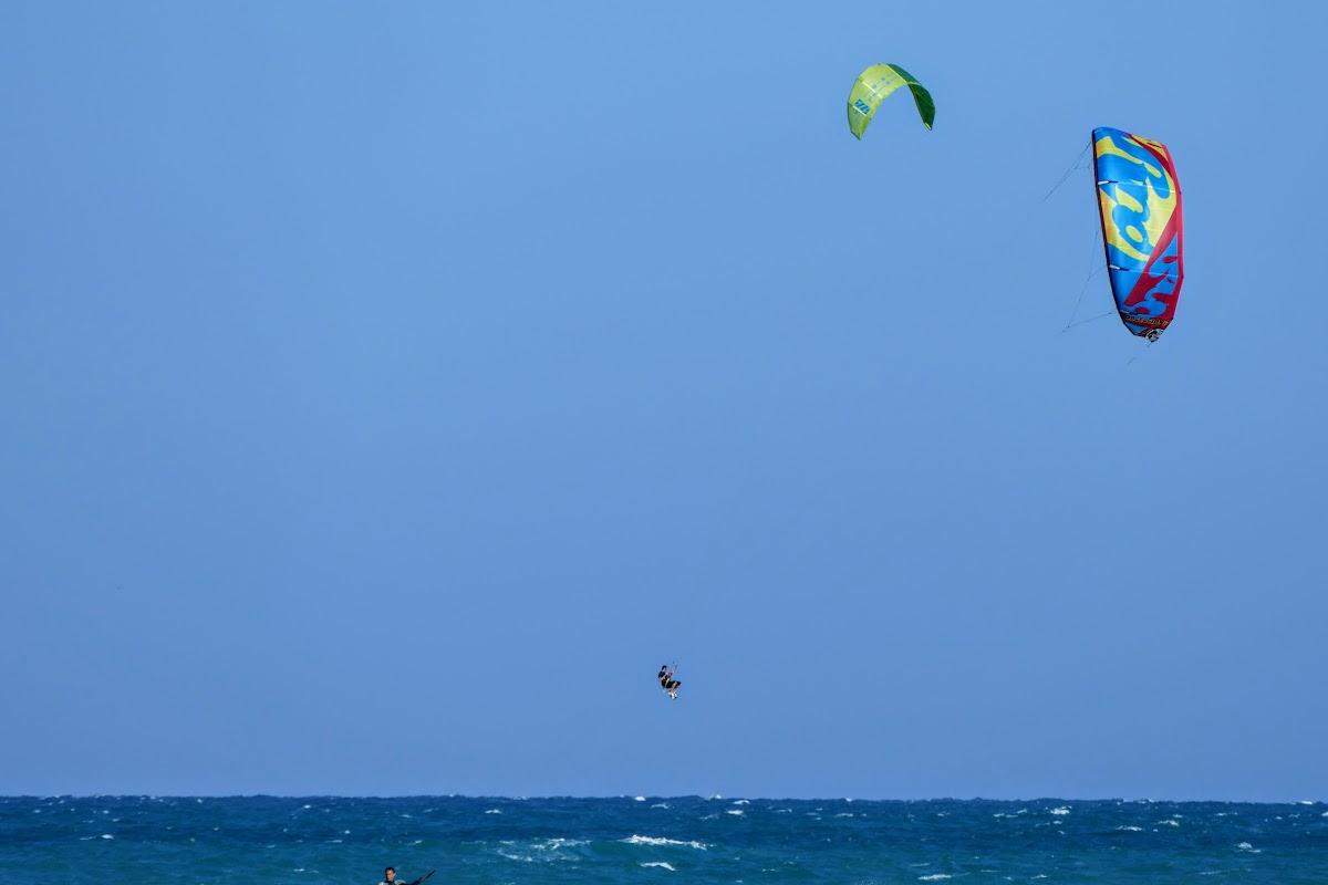 Bruno kiteboarding jump